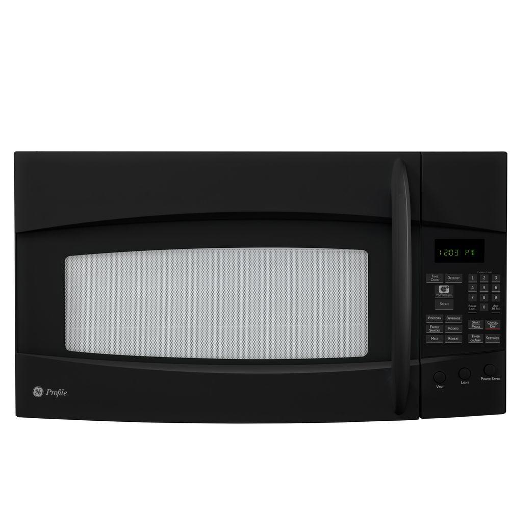 GE Profile Spacemaker 1.9 cu. ft. Over-the-Range Microwave in Black