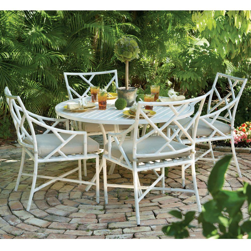 Home Decorators Collection Caicos French Linen 5-Piece Dining Patio Set
