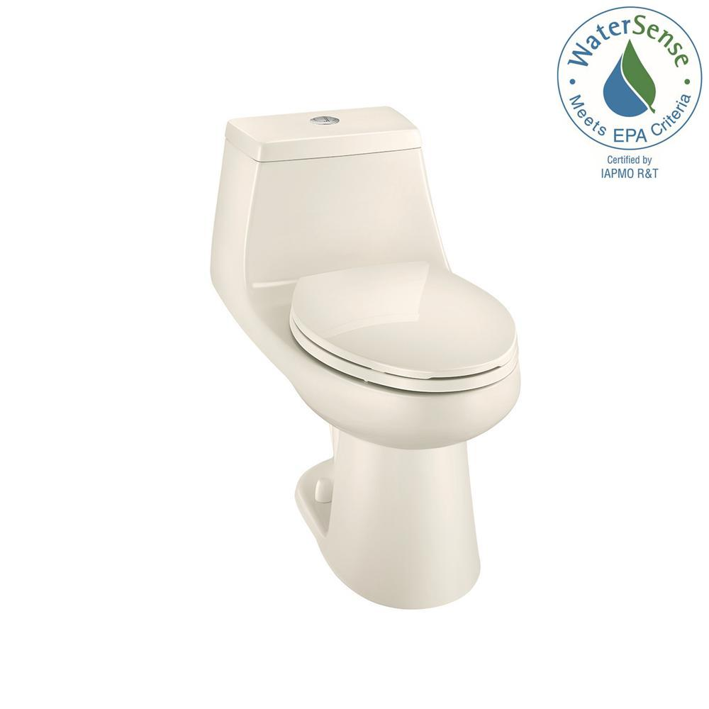 1-piece 1.1 GPF/1.6 GPF High Efficiency Dual Flush Elongated All-in-One Toilet