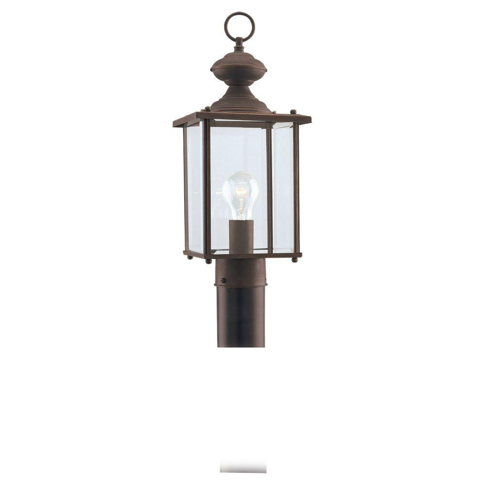 Sea Gull Lighting Jamestowne 1-Light Antique Bronze Outdoor Post Top-8257-71 -