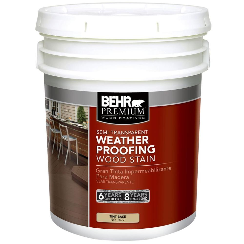 BEHR Premium 5 gal. Semi-Transparent Deck, Fence and Siding Wood Stain