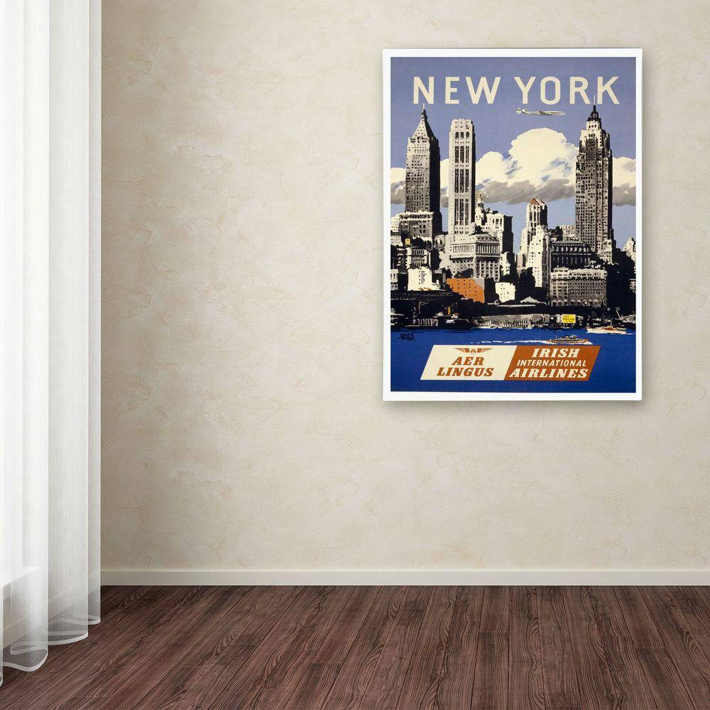 47 in. x 30 in. Trav NY Aer Lingus Canvas Art
