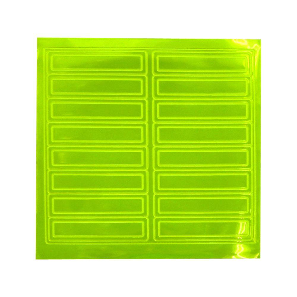 Safety Flag Reflective Pressure Sensitive Strips-6802LY - The Home Depot