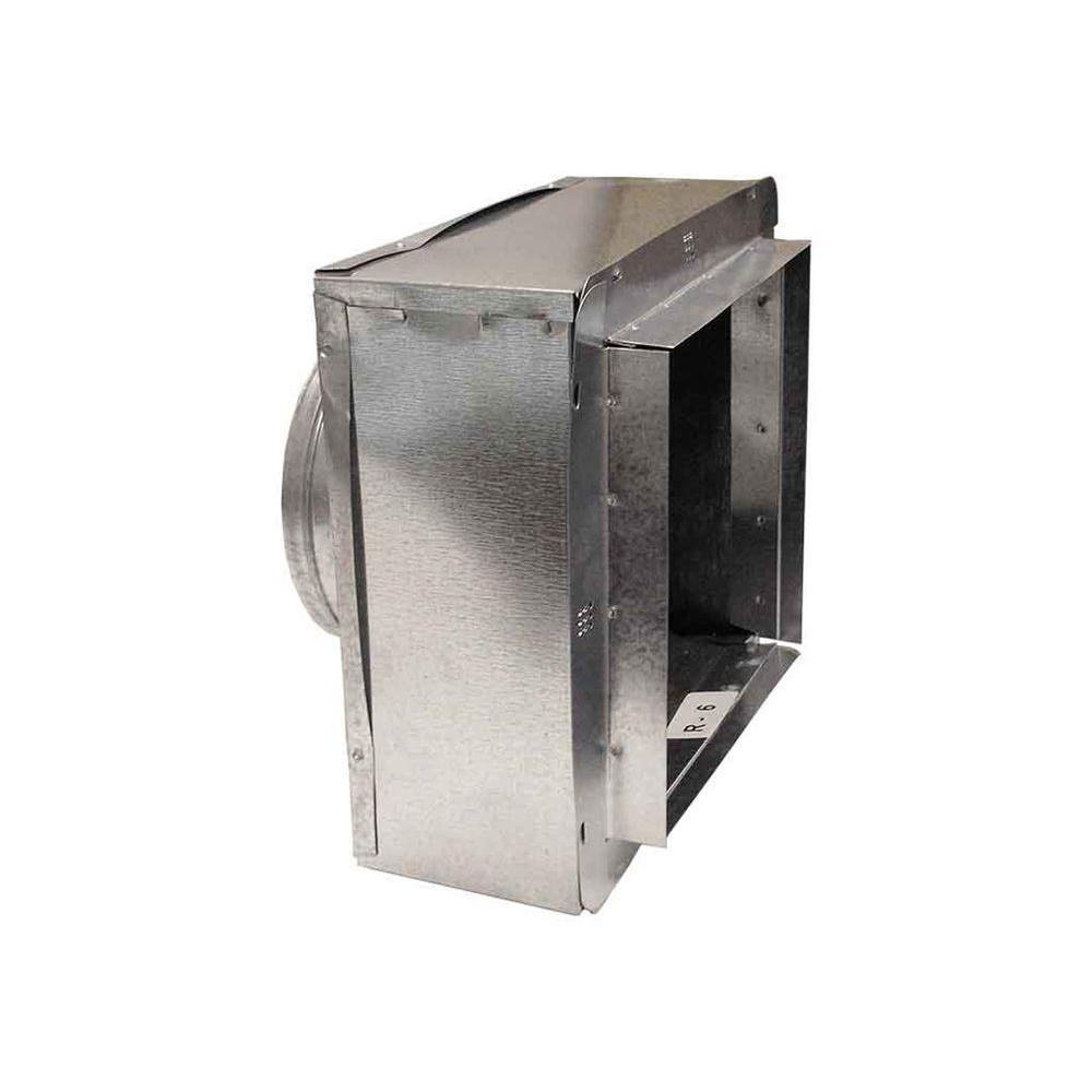 Master Flow Central Air & Heat Components 12 in. x 6 in. to 7 in. Insulated Register Box with Flange R-6 IRBFR612X6X7