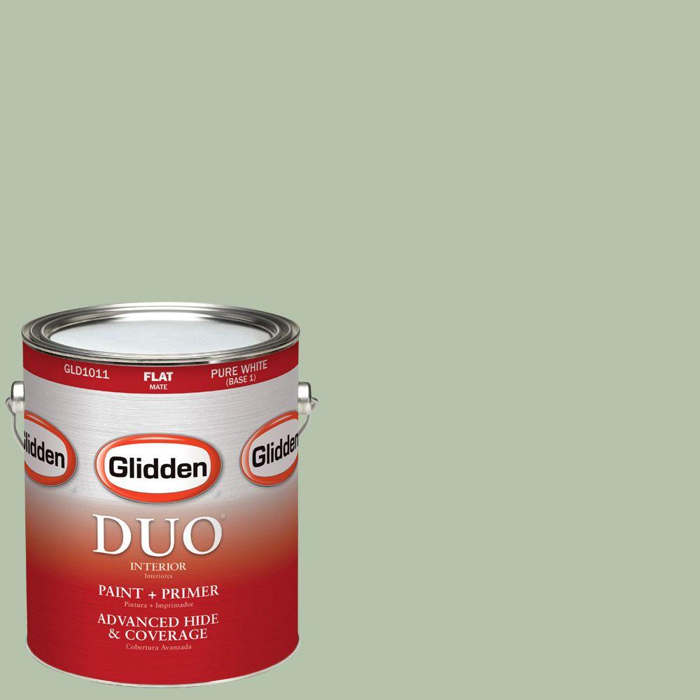 Glidden DUO 1-gal. #HDGG62D Frond Green Flat Latex Interior Paint with Primer