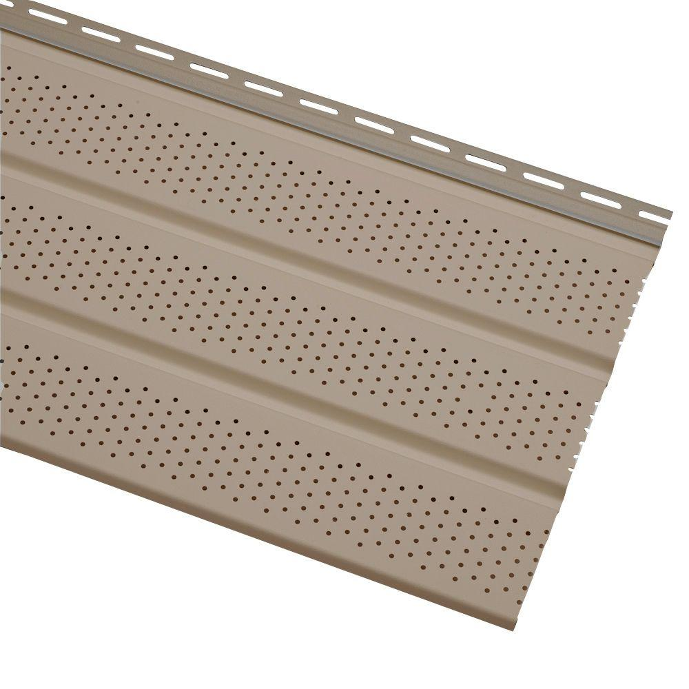 Cellwood Economy Triple 4 In Khaki Vented Vinyl Soffit