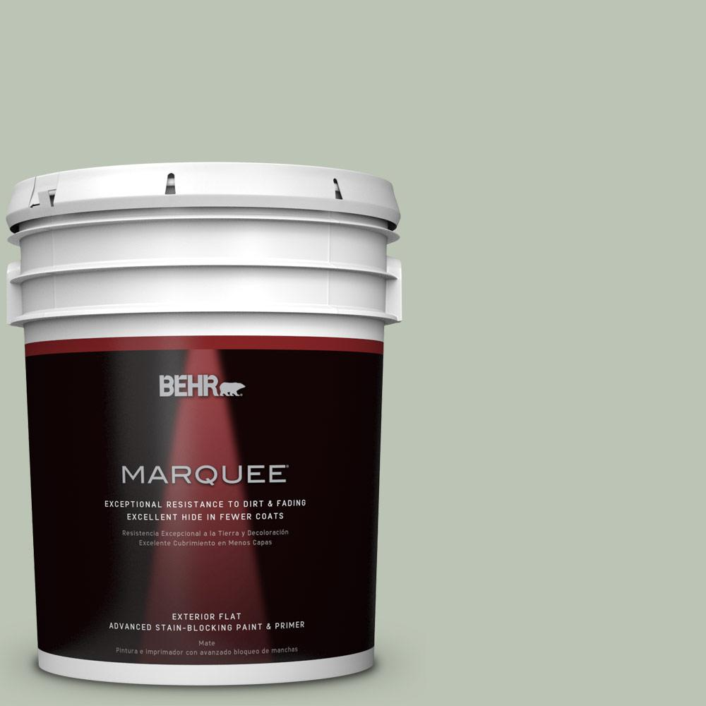 BEHR MARQUEE 5-gal. #PPU11-11 Summer Green Flat Exterior Paint-445005 - The