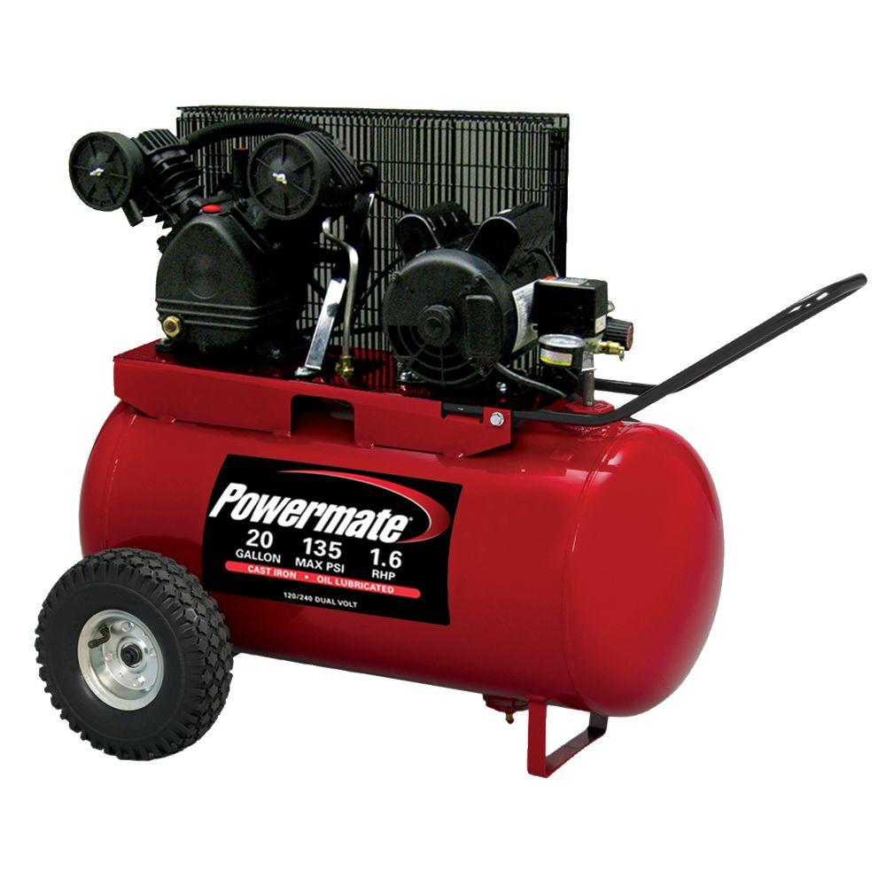 Powermate 20-Gal. Portable Electric Air Compressor-DISCONTINUED