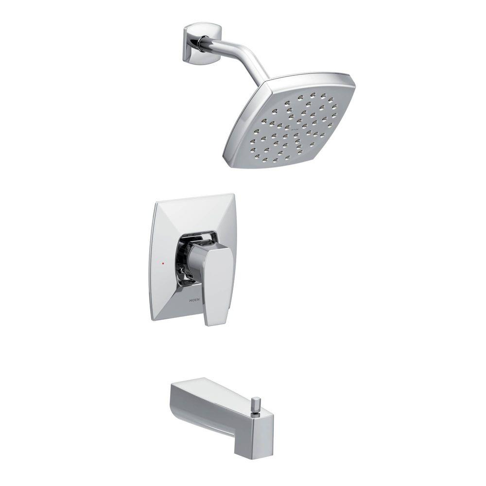 Via Single-Handle 1-Spray PosiTemp Tub and Shower Faucet in Chrome (Valve