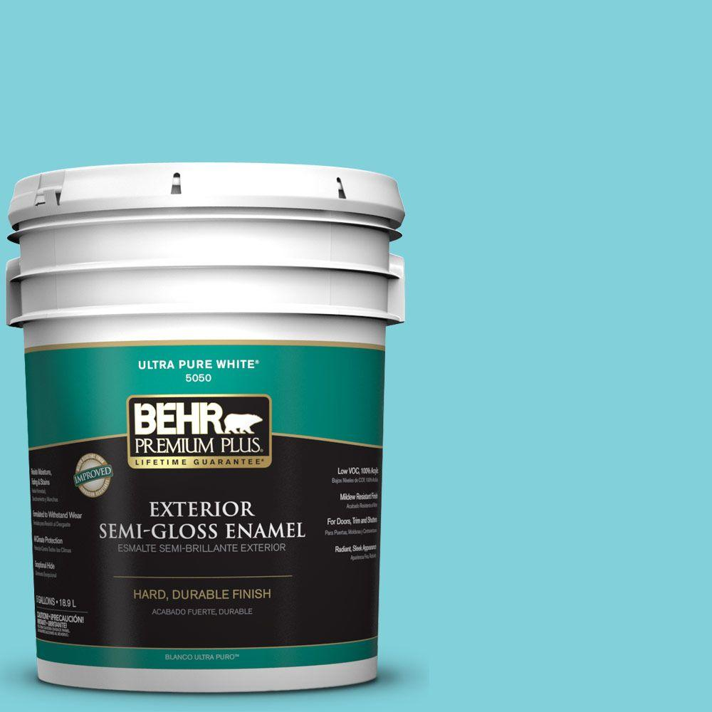 5-gal. #P470-3 Sea of Tranquility Semi-Gloss Enamel Exterior Paint