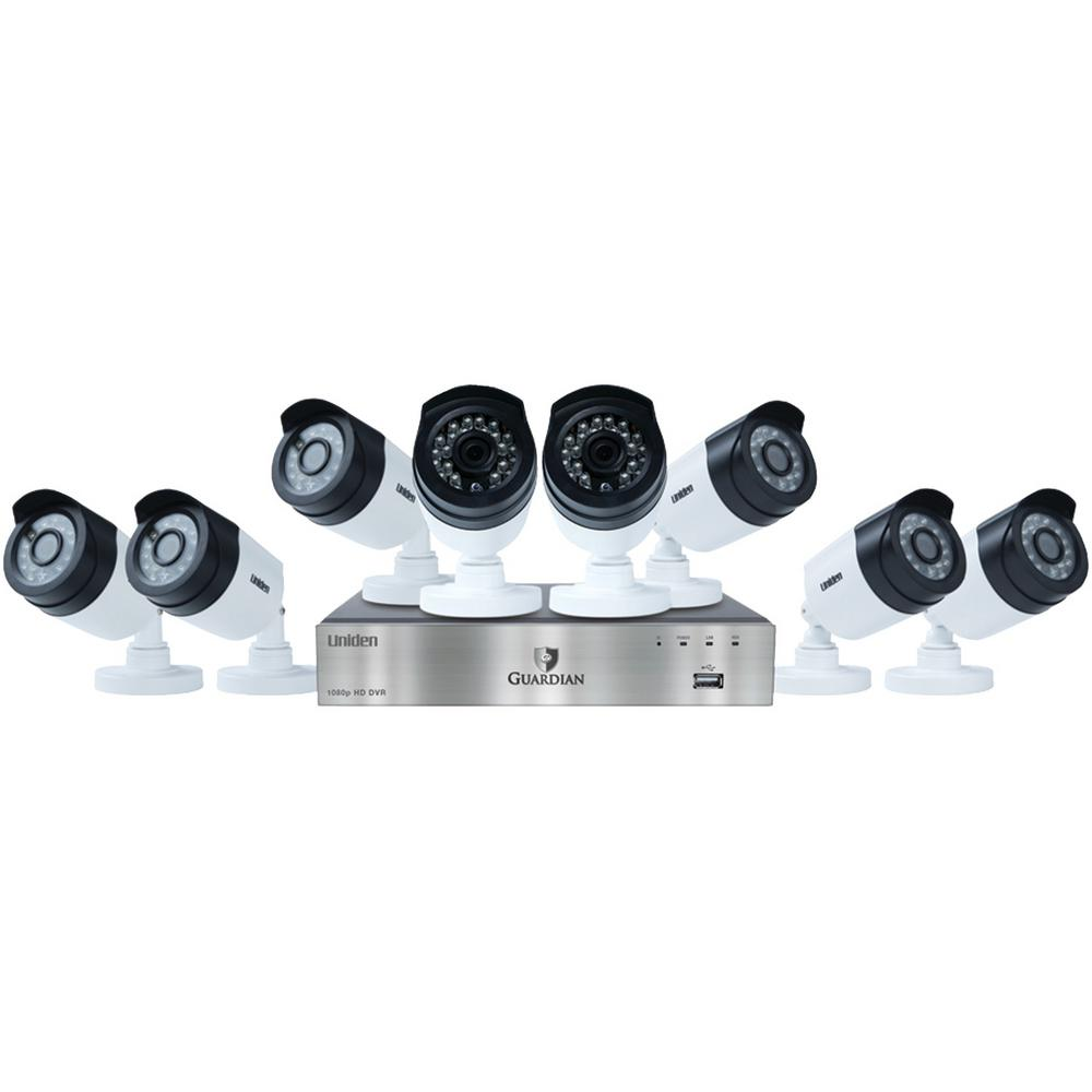 Uniden 8-Channel 1080p 2TB DVR with 8 Outdoor Bullet Cameras