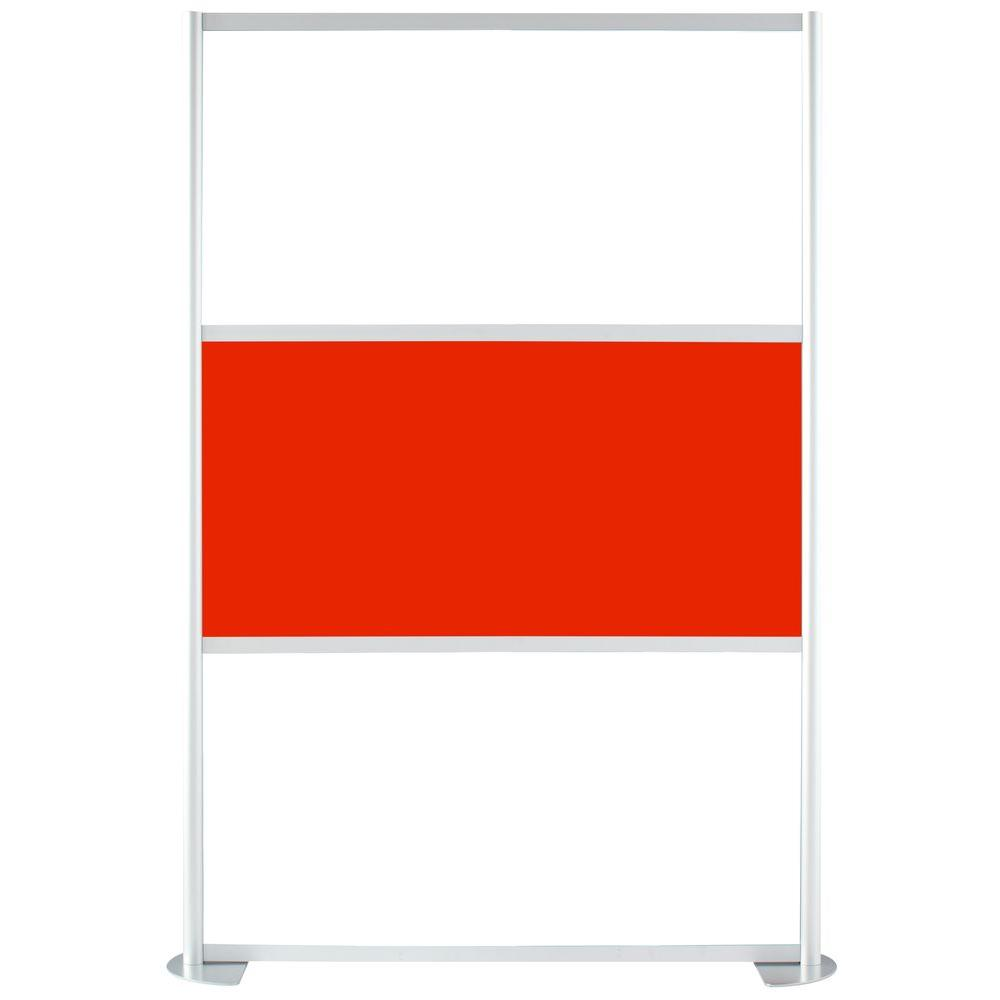 uDivide 6.28 ft. White and Red 3-Panel Room Divider