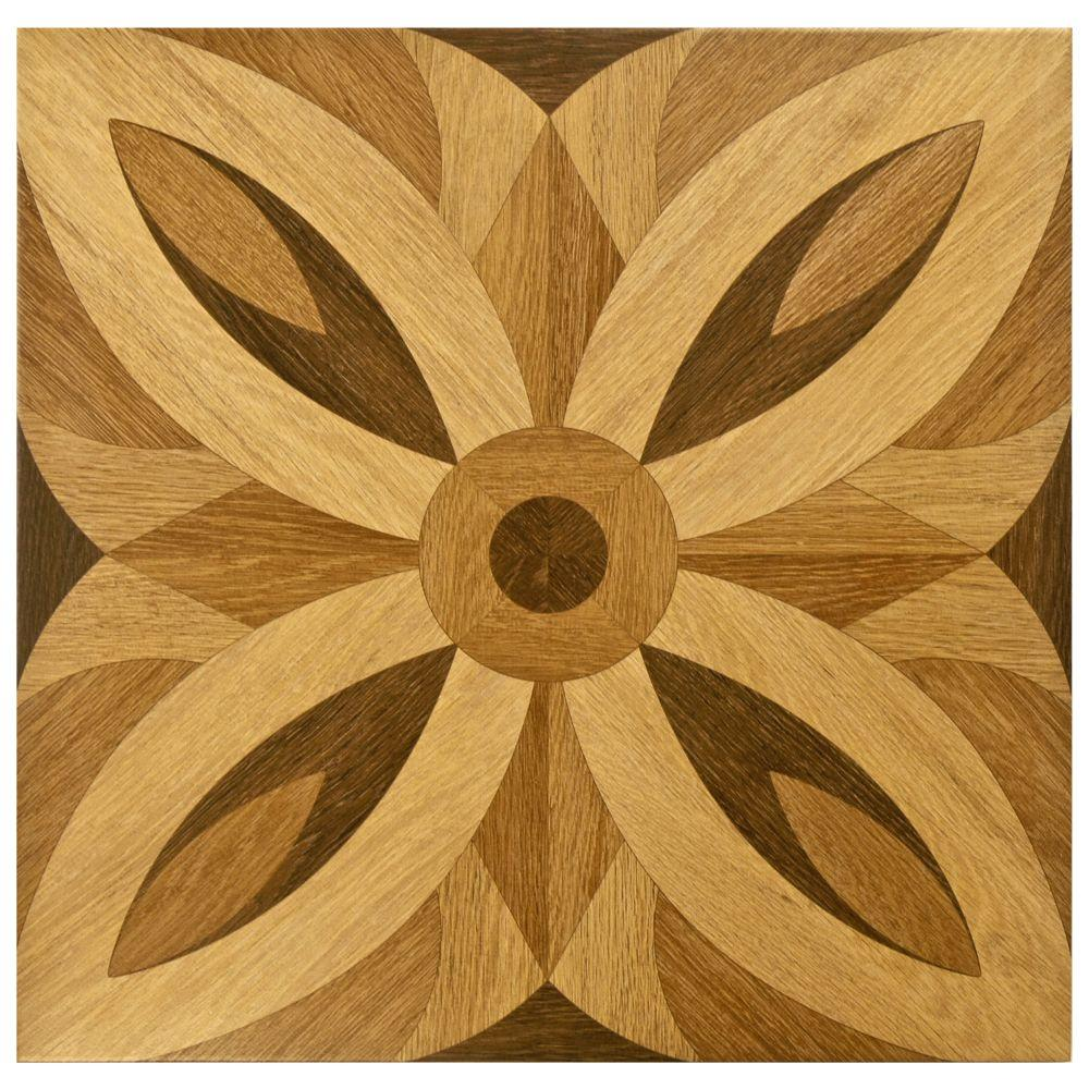 Merola Tile Florence Matte Brown 17 in. x 17 in. Ceramic Floor and Wall Tile (12.21 sq. ft. / case)