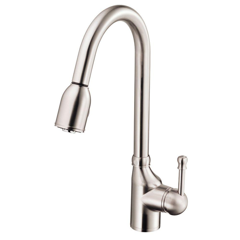 Danze Melrose Single-Handle Pull-Down Sprayer Kitchen Faucet in Stainless Steel