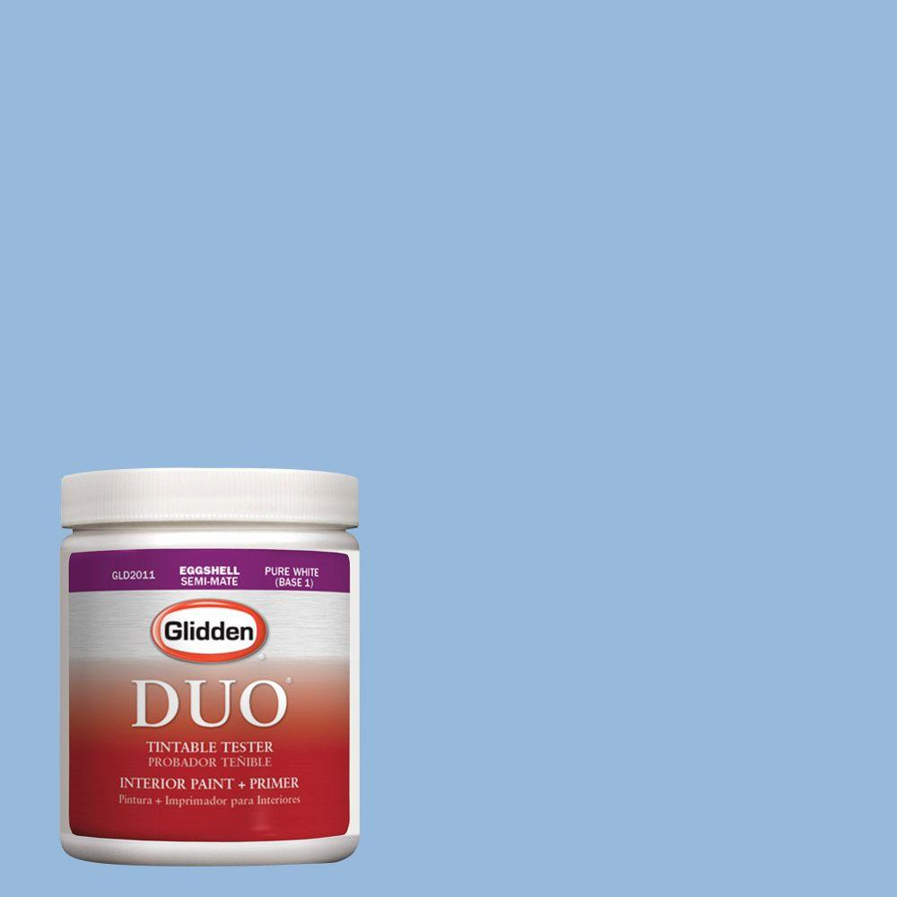 Glidden DUO 8 oz. #HDGV15 French Country Blue Latex Interior Paint Tester