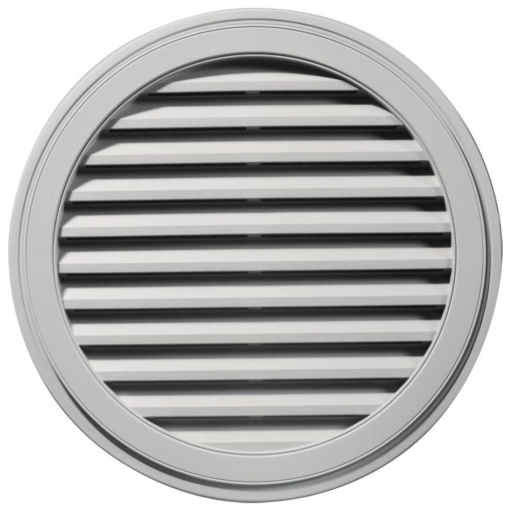 Builders Edge 36 in. Round Gable Vent in Paintable