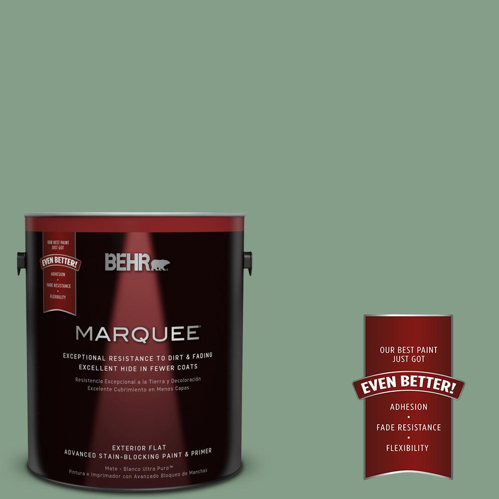 BEHR MARQUEE 1-gal. #S410-5 Track Green Flat Exterior Paint