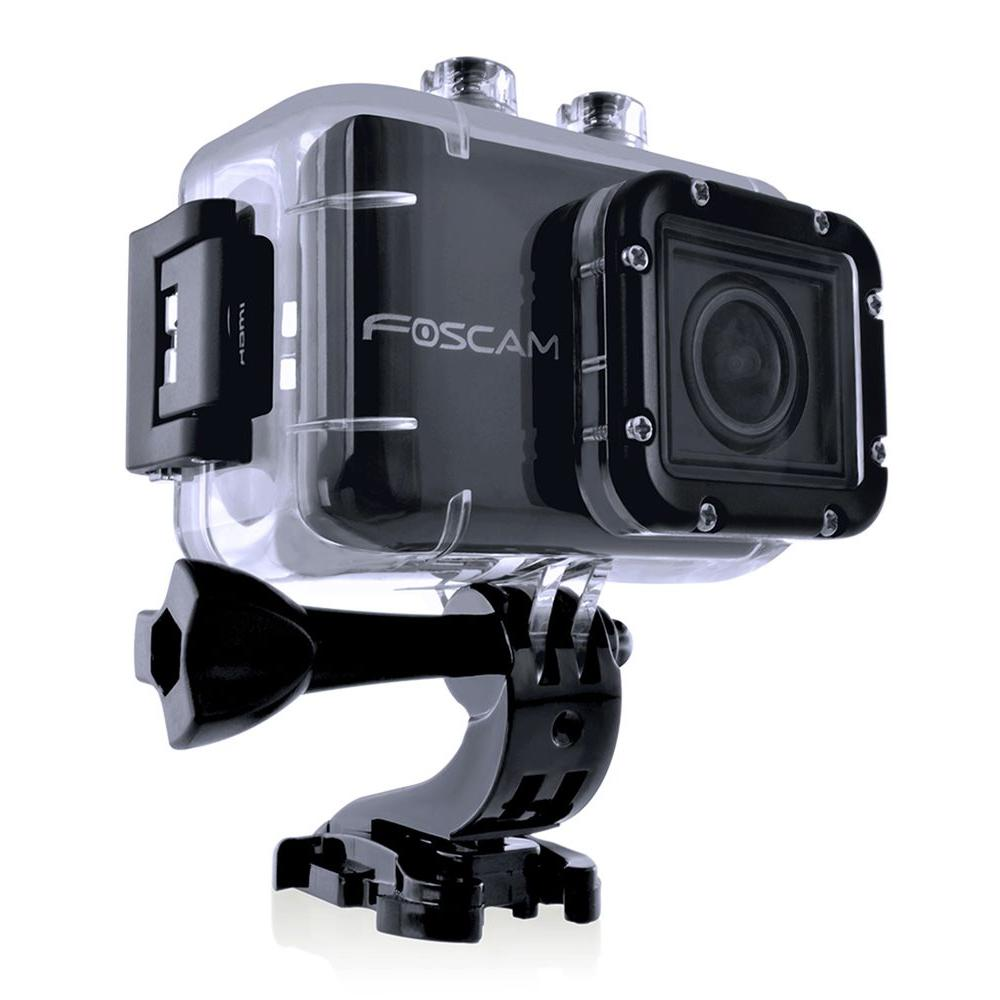 Foscam Digital Cameras Action Camera with HD 1080P, 12MP Rapid Shot, 170 Deg Wide Angle, 1.5 in LCD Waterproof AC1080