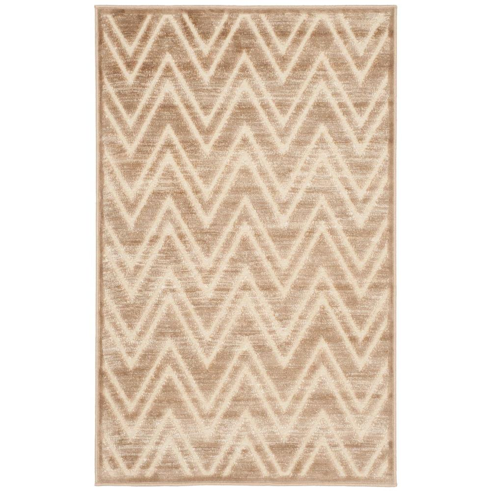 Paradise Caramel/Cream 2 ft. 7 in. x 4 ft. Area Rug