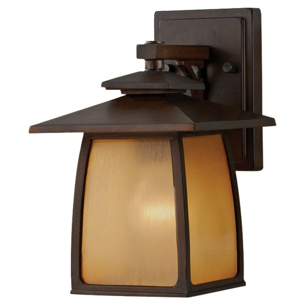 Wright House 1-Light Sorrel Brown Outdoor Wall Lantern