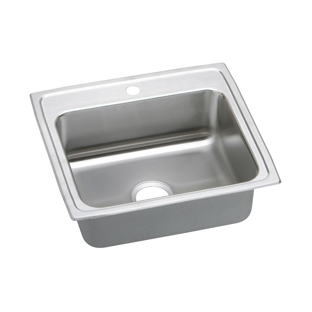 Gourmet Drop-In Stainless Steel 22 in. 1-Hole Single Bowl Kitchen Sink