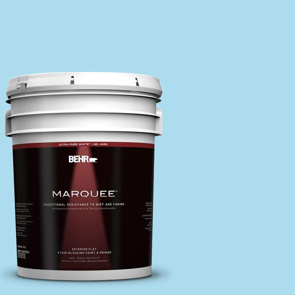 5-gal. #530A-3 Frosty Glade Flat Exterior Paint