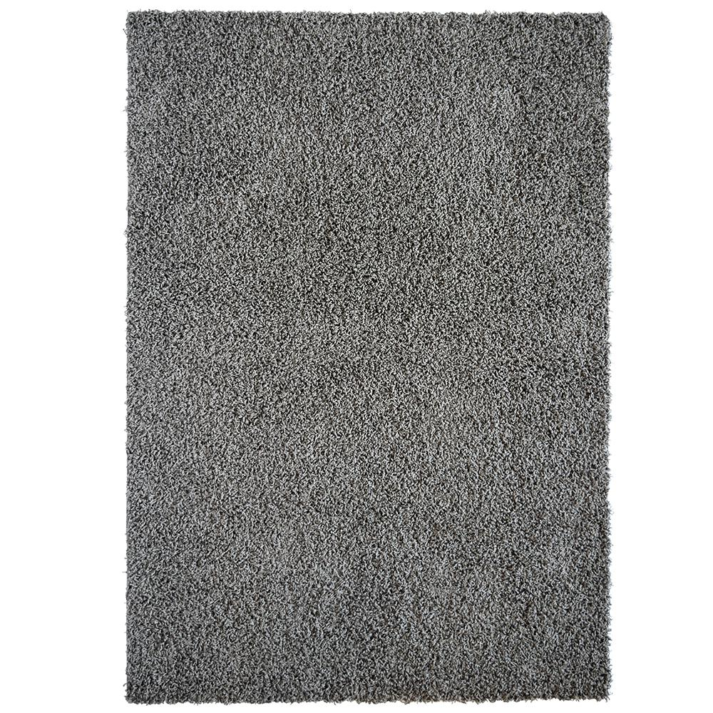 Comfort Shag Charcoal 8 ft. x 10 ft. Area Rug