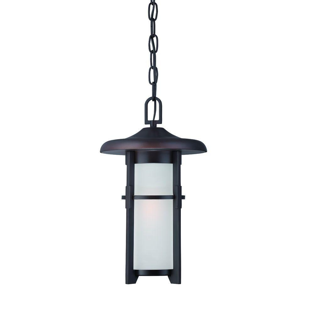 Luma Collection Architectural Bronze Outdoor Hanging Light Fixture