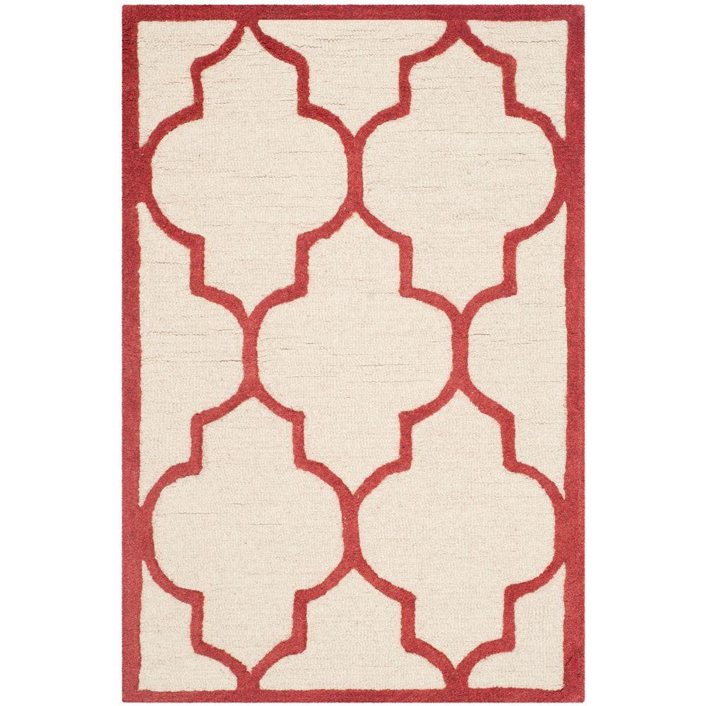 Cambridge Ivory/Rust (Ivory/Red) 2 ft. 6 in. x 4 ft. Runner