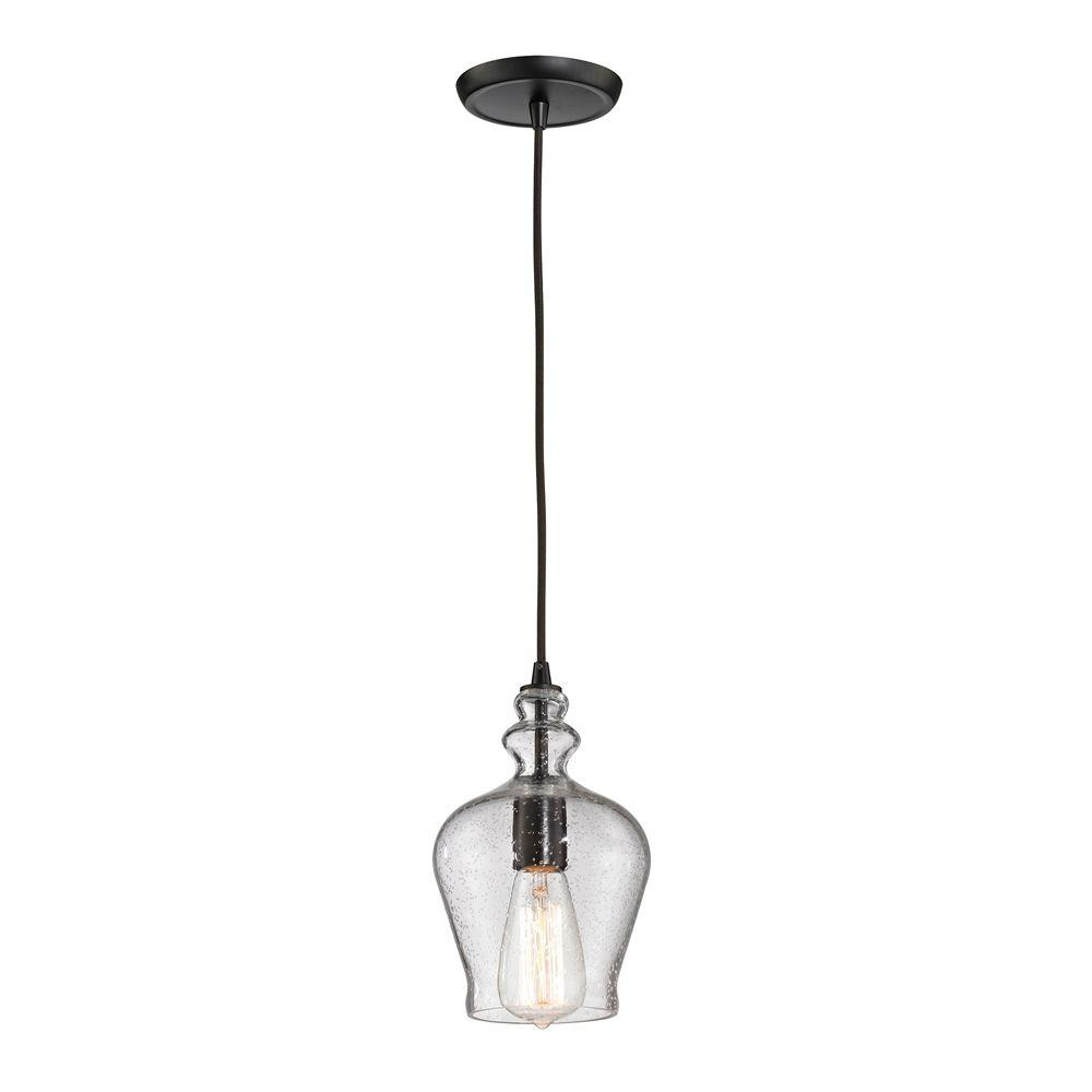 Titan Lighting Wycombe Collection 1-Light Oil-Rubbed Bronze Mini