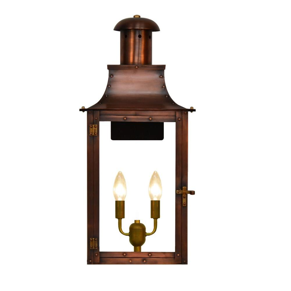 Madison 2-Light Copper Outdoor Wall Lantern