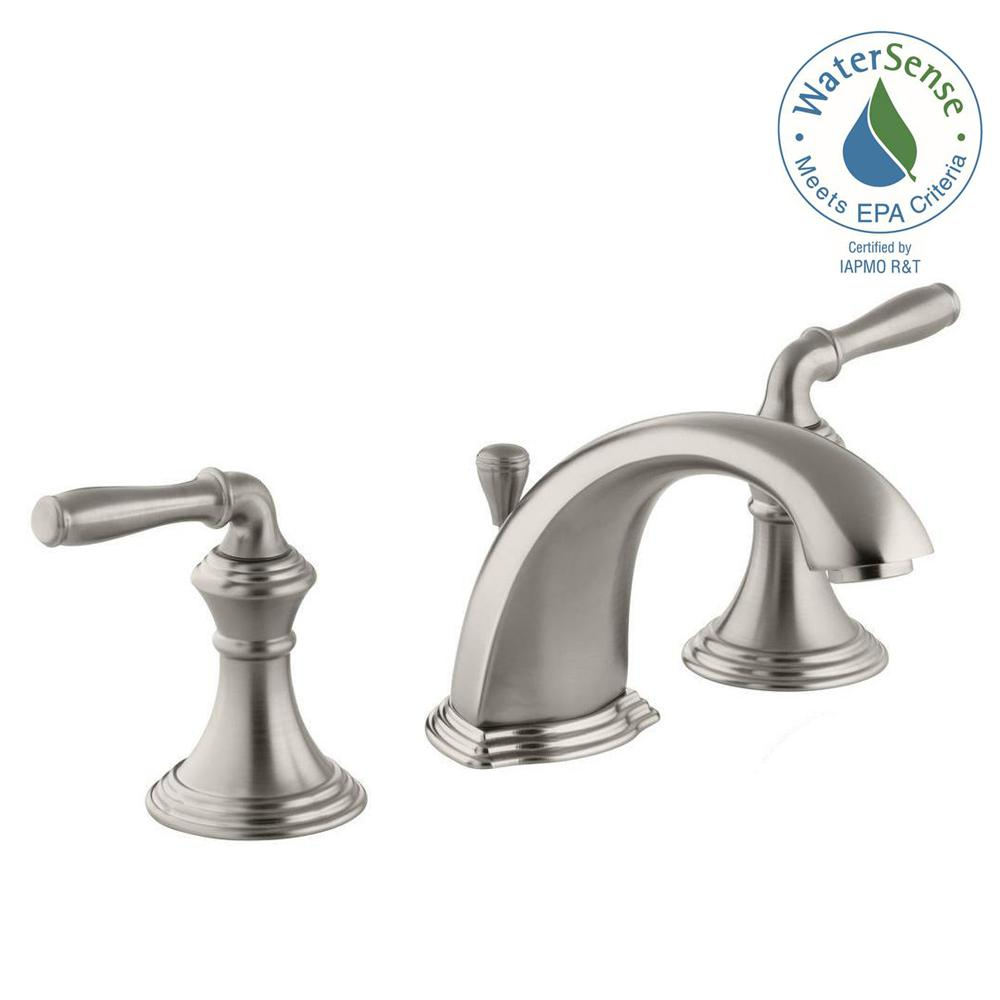 Devonshire 8 in. Widespread 2-Handle Low-Arc Bathroom Faucet in Vibrant Brushed