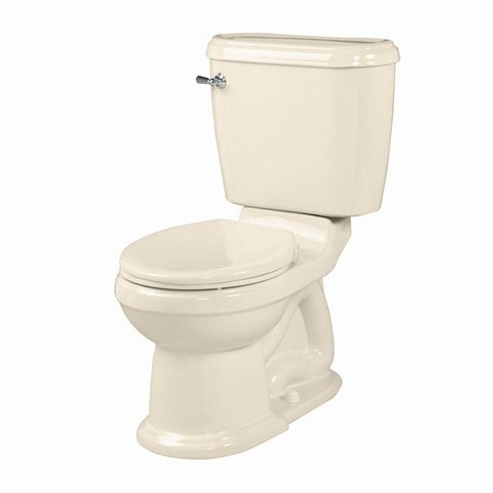 American Standard Portsmouth Champion 4 2-piece 1.6 GPF Right Height Round Toilet in Bone