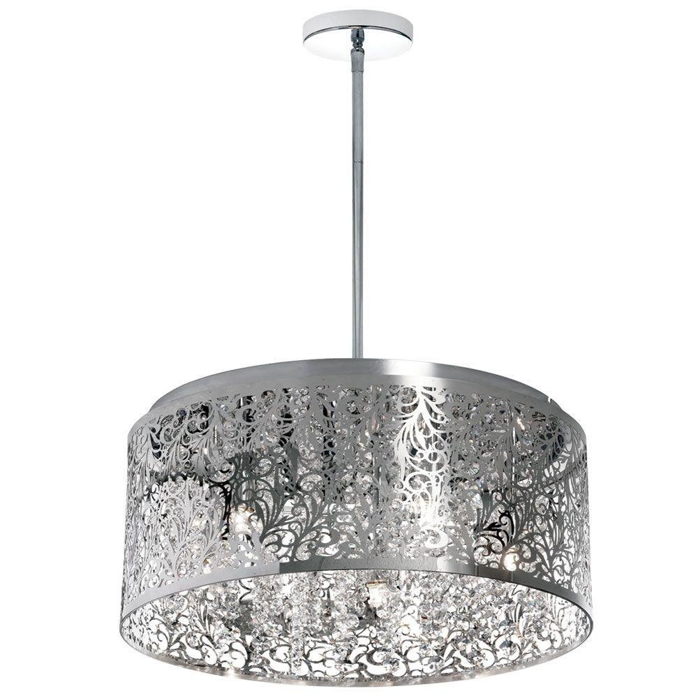 Radionic Hi Tech Siley 8-Light 20 in. Polished Chrome Chandelier