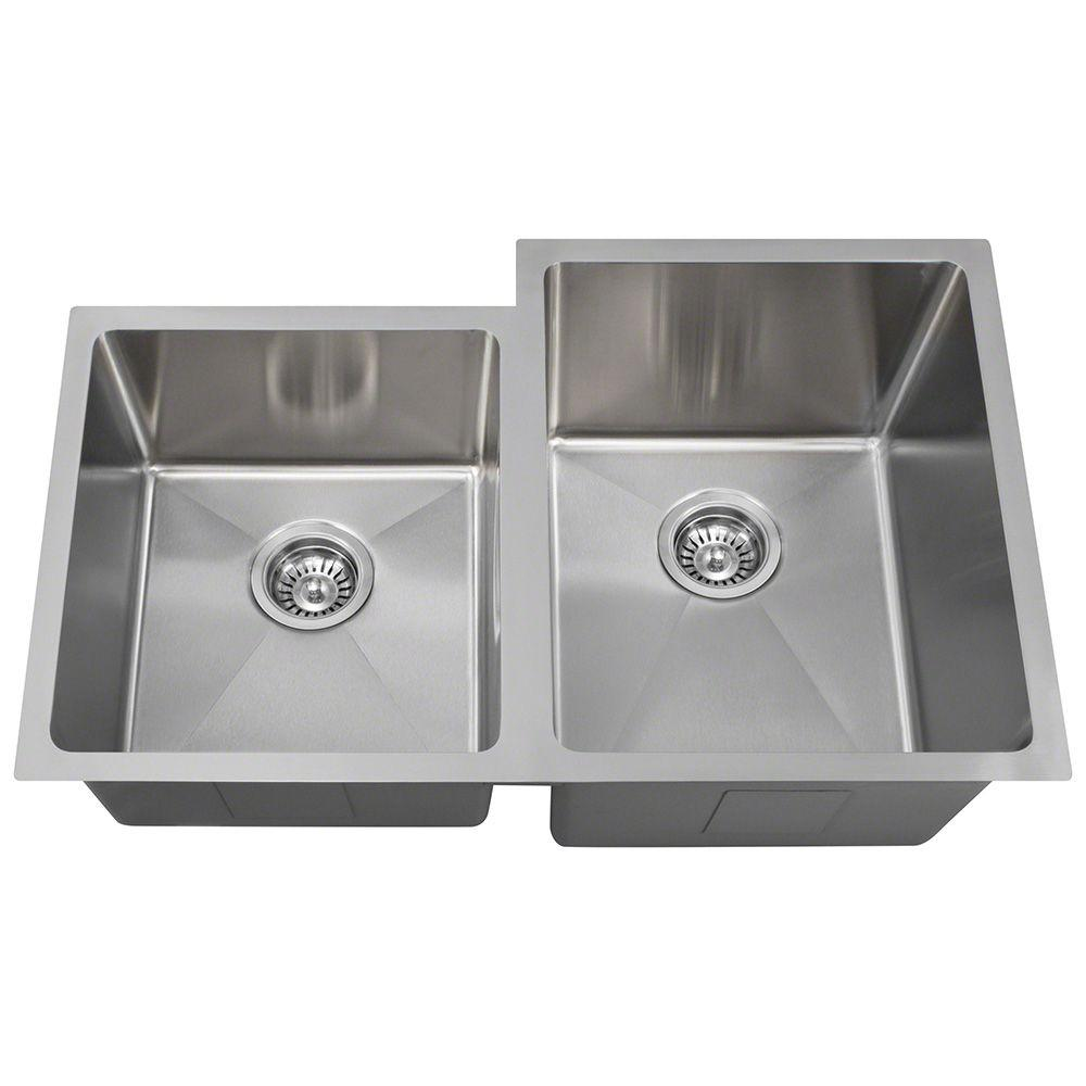 Undermount Stainless Steel 31 in. Double Bowl Kitchen Sink
