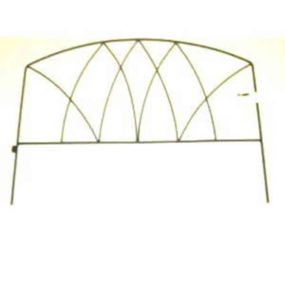 Patio Life 24 in. H x 18 in. W Wrought Iron Horizon Fence (24-Case)-DISCONTINUED