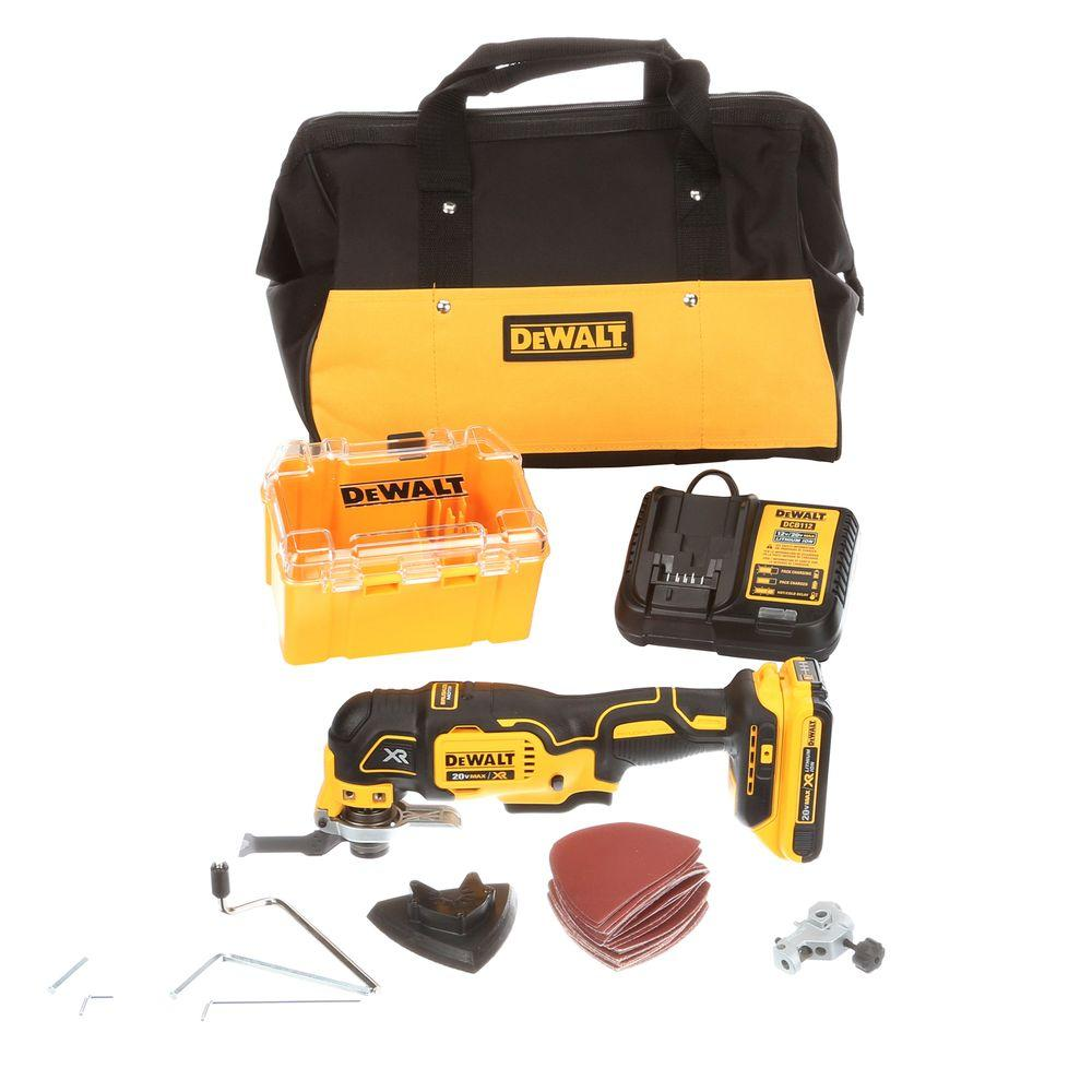 DEWALT 20-Volt MAX XR Lithium-Ion Cordless Brushless Oscillating Multi-Tool Kit with Battery 2Ah, Charger and Contractor Bag