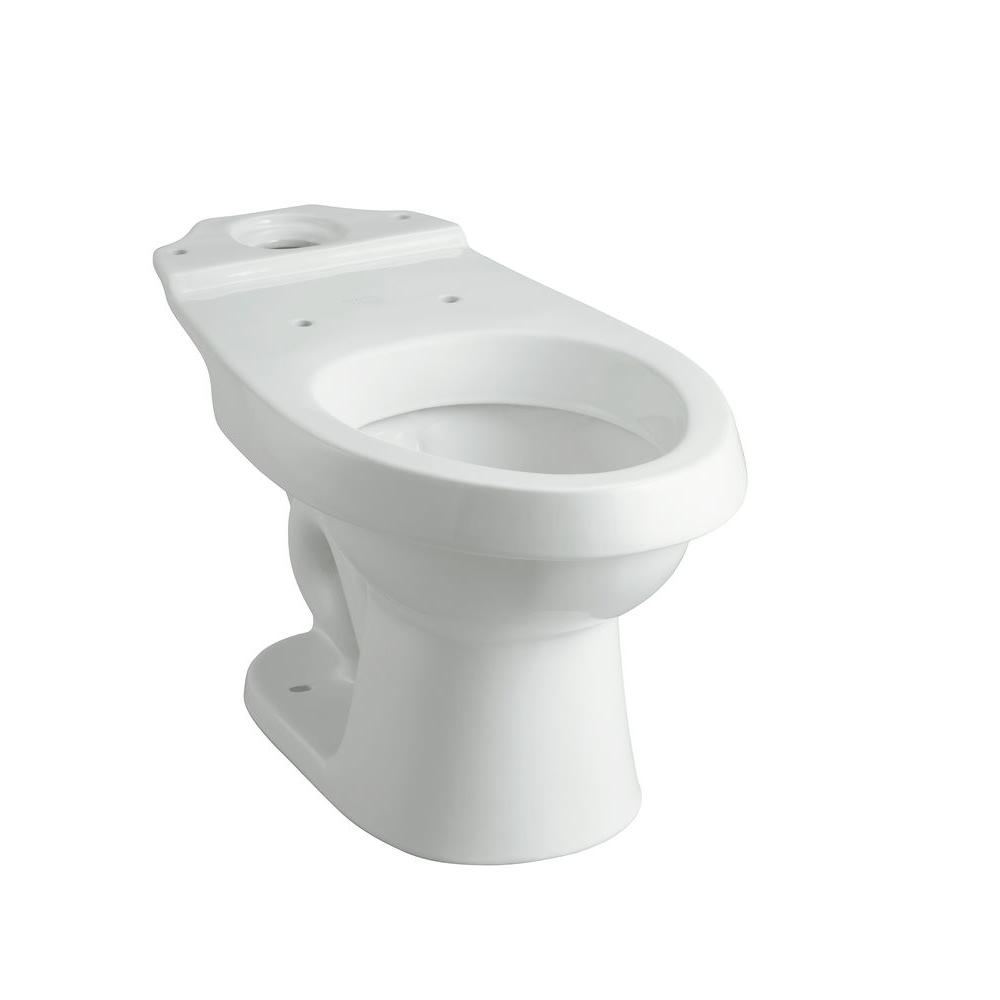 STERLING Rockton 2-piece 1.6 GPF Elongated Toilet Bowl Only with Dual Force Technology in White