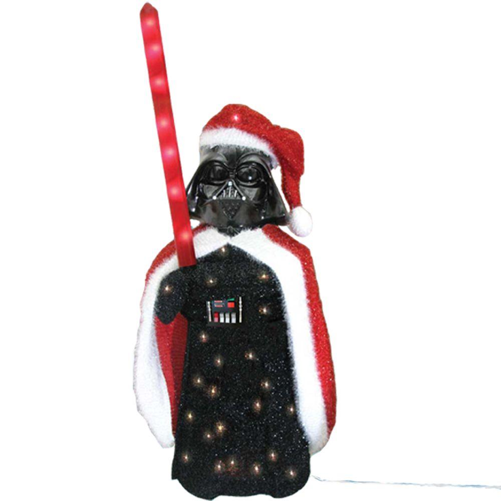 Star wars darth vader lighted lawn decor kurt s adler 36 for Home depot christmas lawn decorations