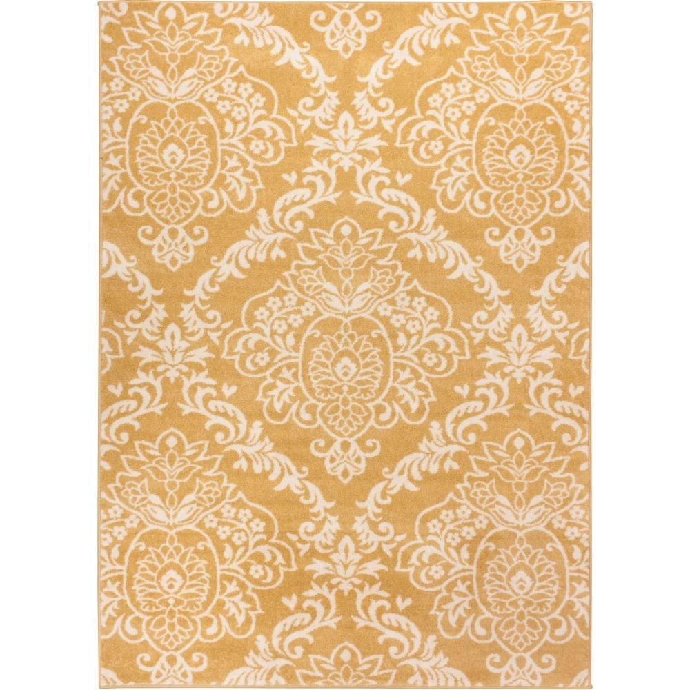 Well Woven Sydney Magnolia Gold 5 ft. 3 in. x 7 ft. 3 in. Modern Area Rug
