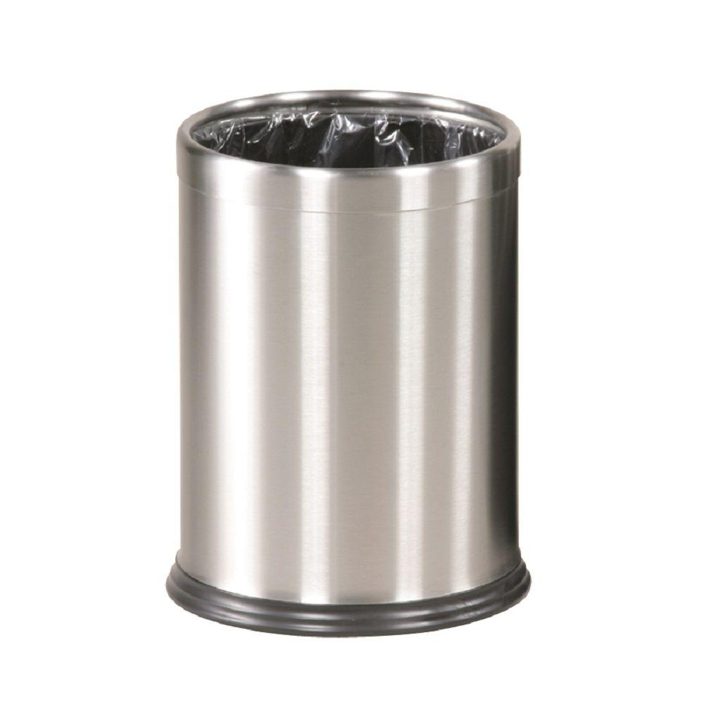 Rubbermaid Commercial Products Executive Series 3.5 gal. Stainless Steel Open-Top Trash Container