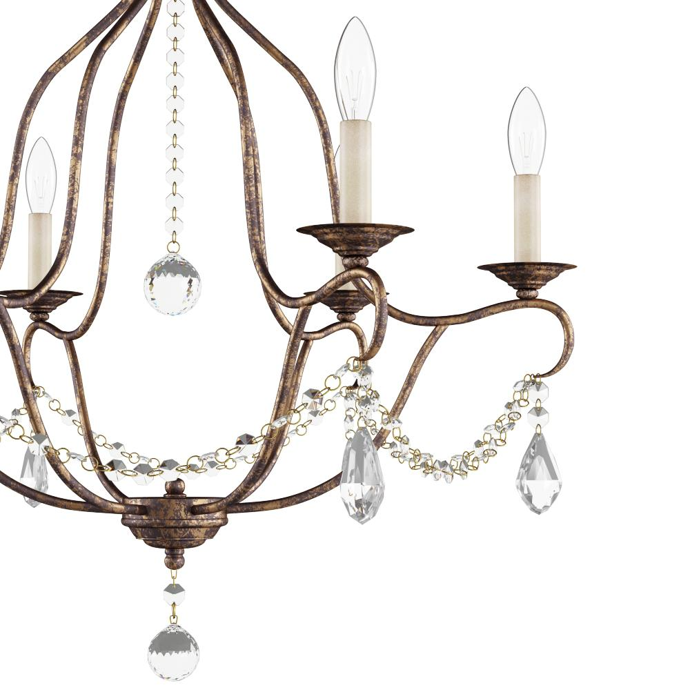 Venetian Bronze Chandelier: Livex Lighting Providence 6-Light Venetian Golden Bronze