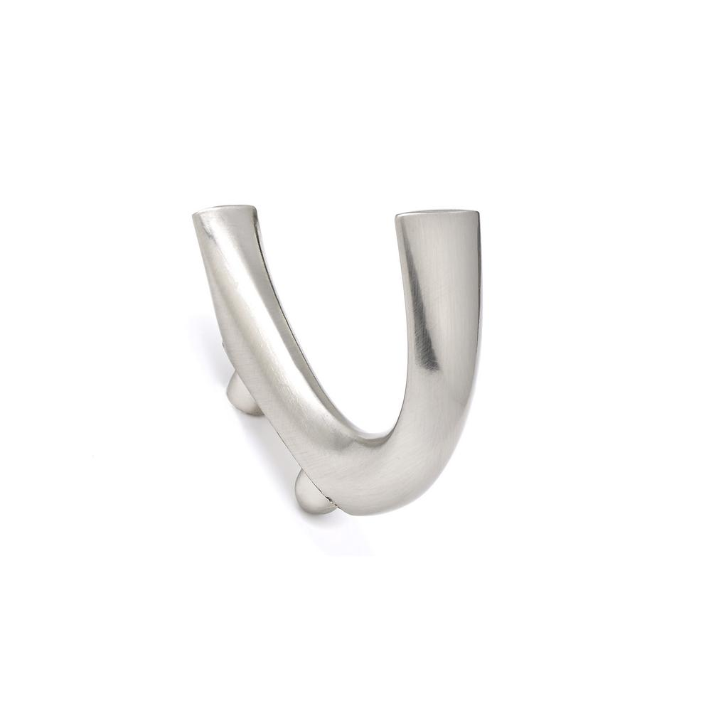 2-19/32 in. (65.6 mm) Brushed Nickel Decorative Hook