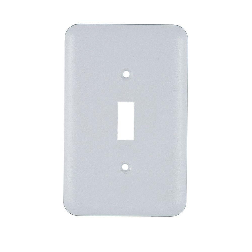 1 Toggle Steel Switch Wall Plate - White