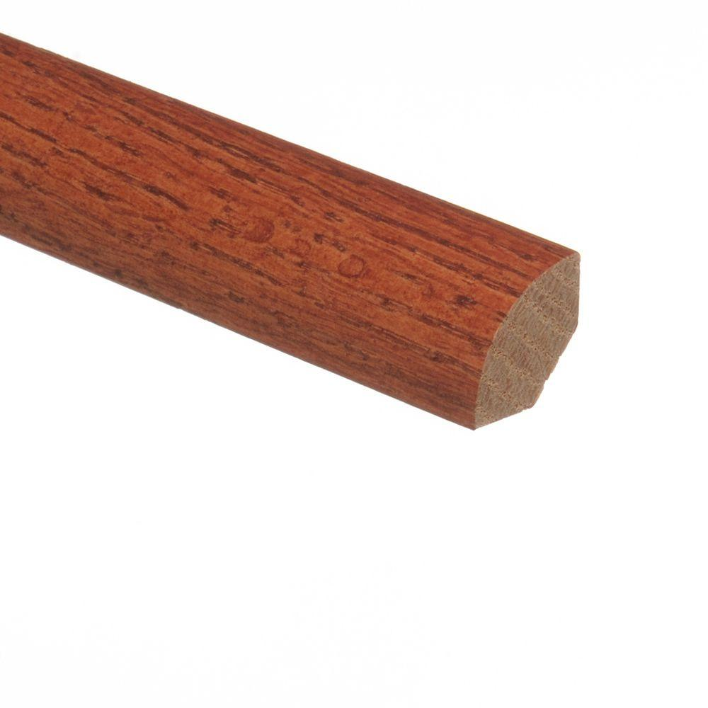 Oak Gunstock 3/4 in. Thick x 3/4 in. Wide x 94 in. Length Hardwood Quarter Round Molding
