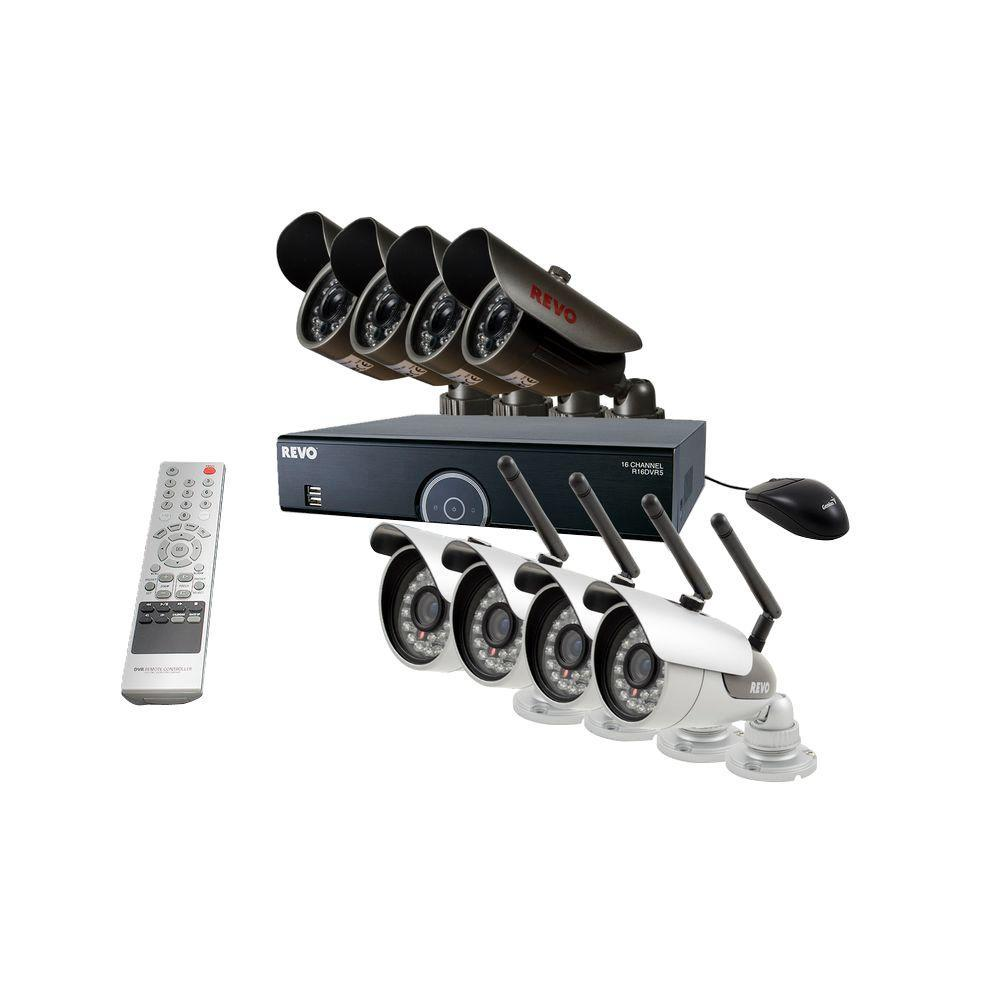 16-Channel 2TB DVR Surveillance System with 4 Wireless Bullet Cameras and