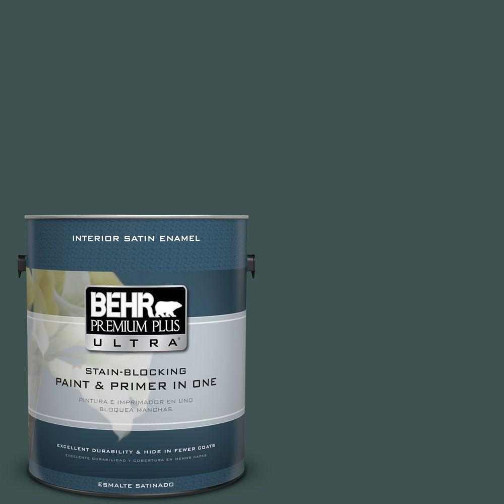 1 gal. #HDC-CL-21A Dark Everglade Satin Enamel Interior Paint