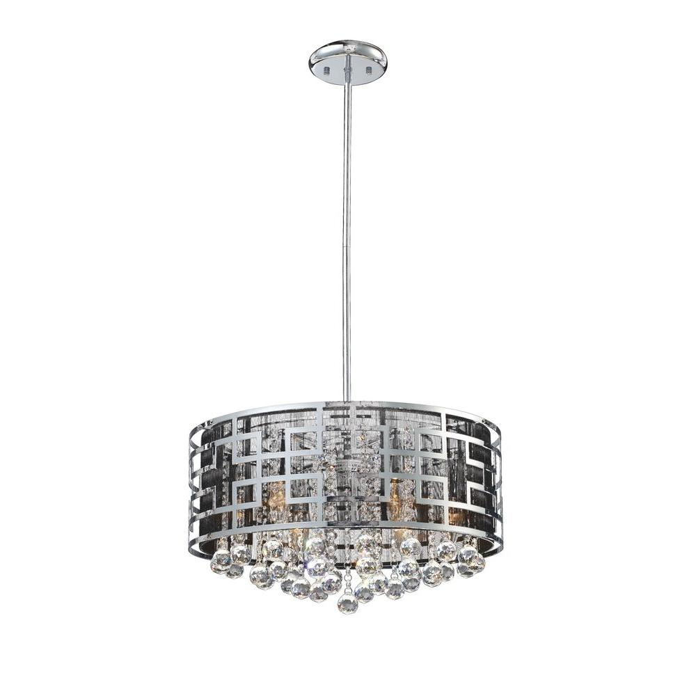 Tulen Chandeliers Lawrence 6-Light Chrome Incandescent Ceiling Chandelier CLI-JB839CH