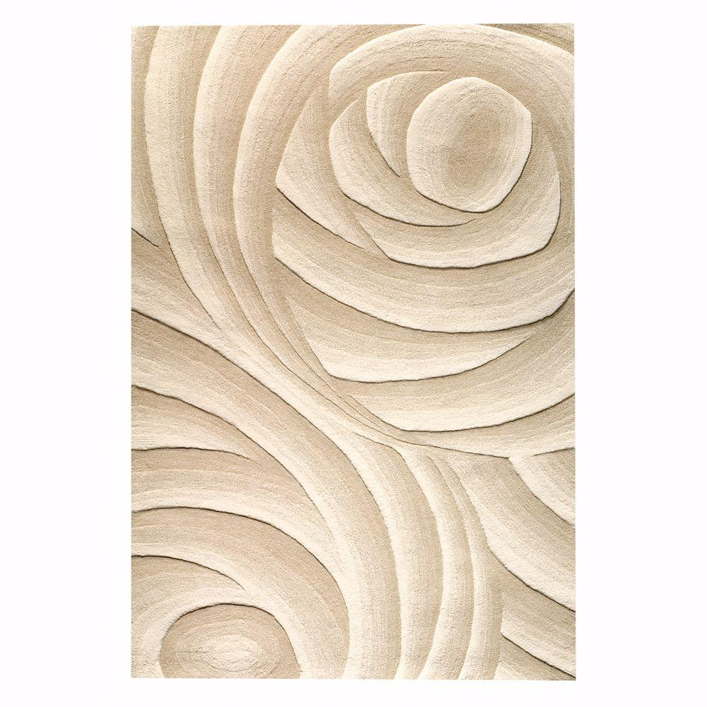 Home Decorators Collection Optics Beige 9 ft. 6 in. x 13 ft. Area Rug