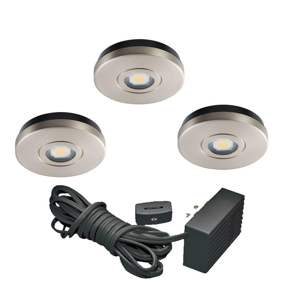 Juno Satin Nickel LED Under Cabinet Solo Task Light Kit-UK3STL-3K-SN -